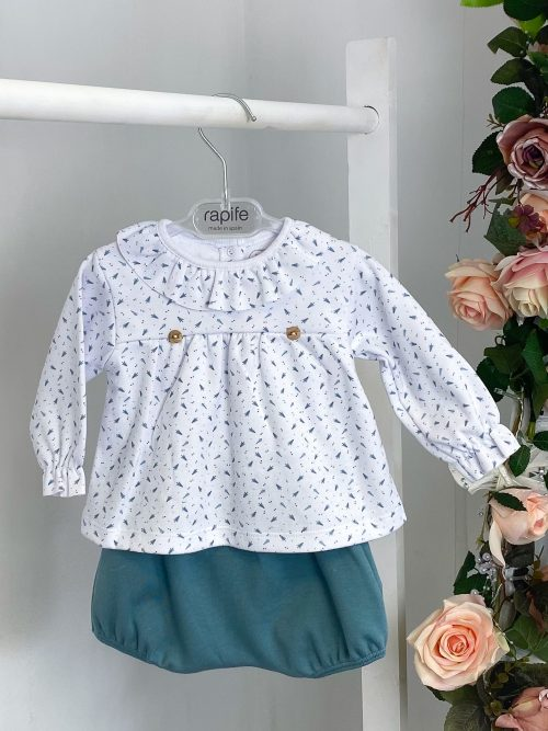 Fir Tree Frilled Top & Bloomers