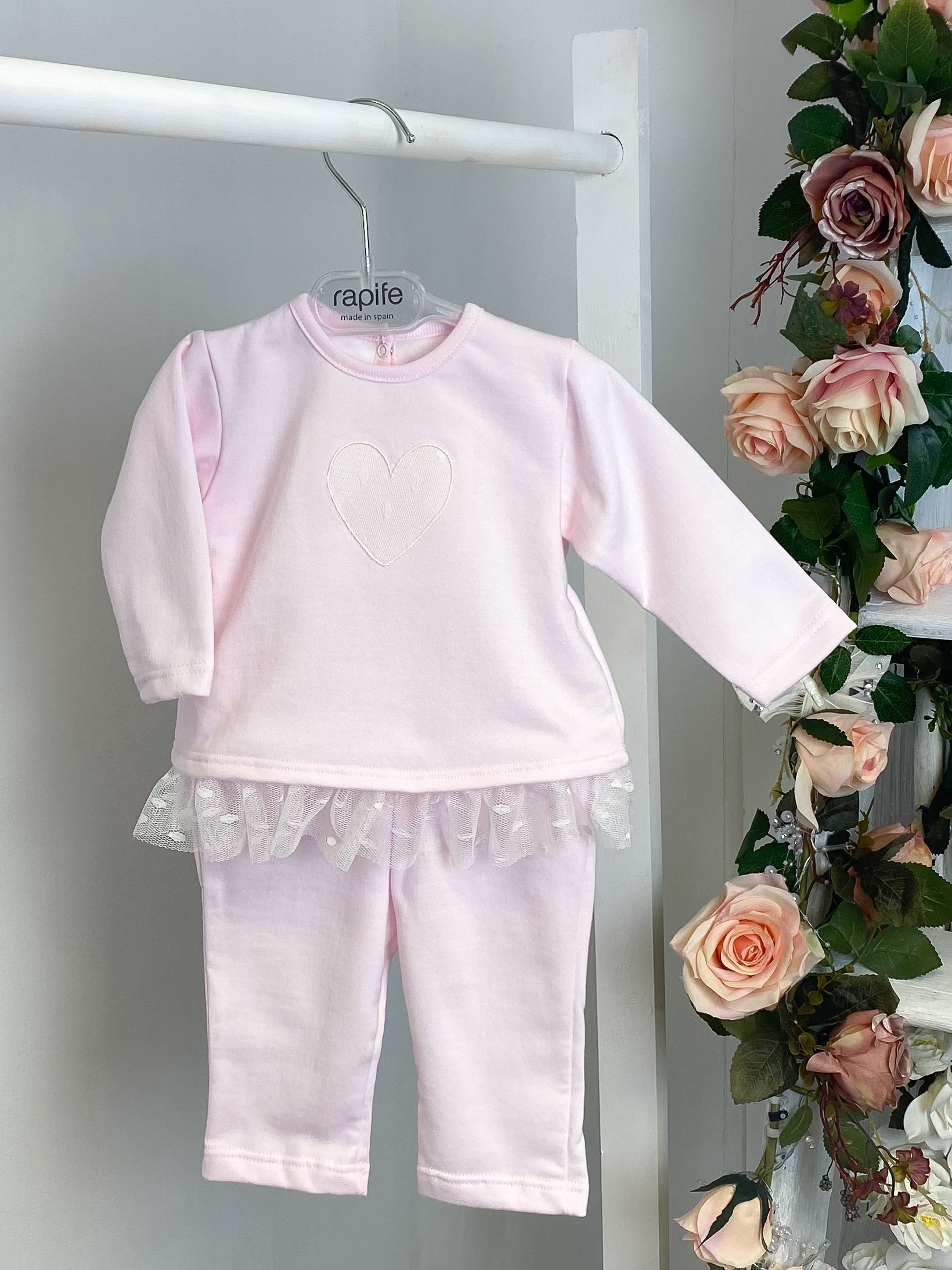 Pink Heart Frilled Tracksuit