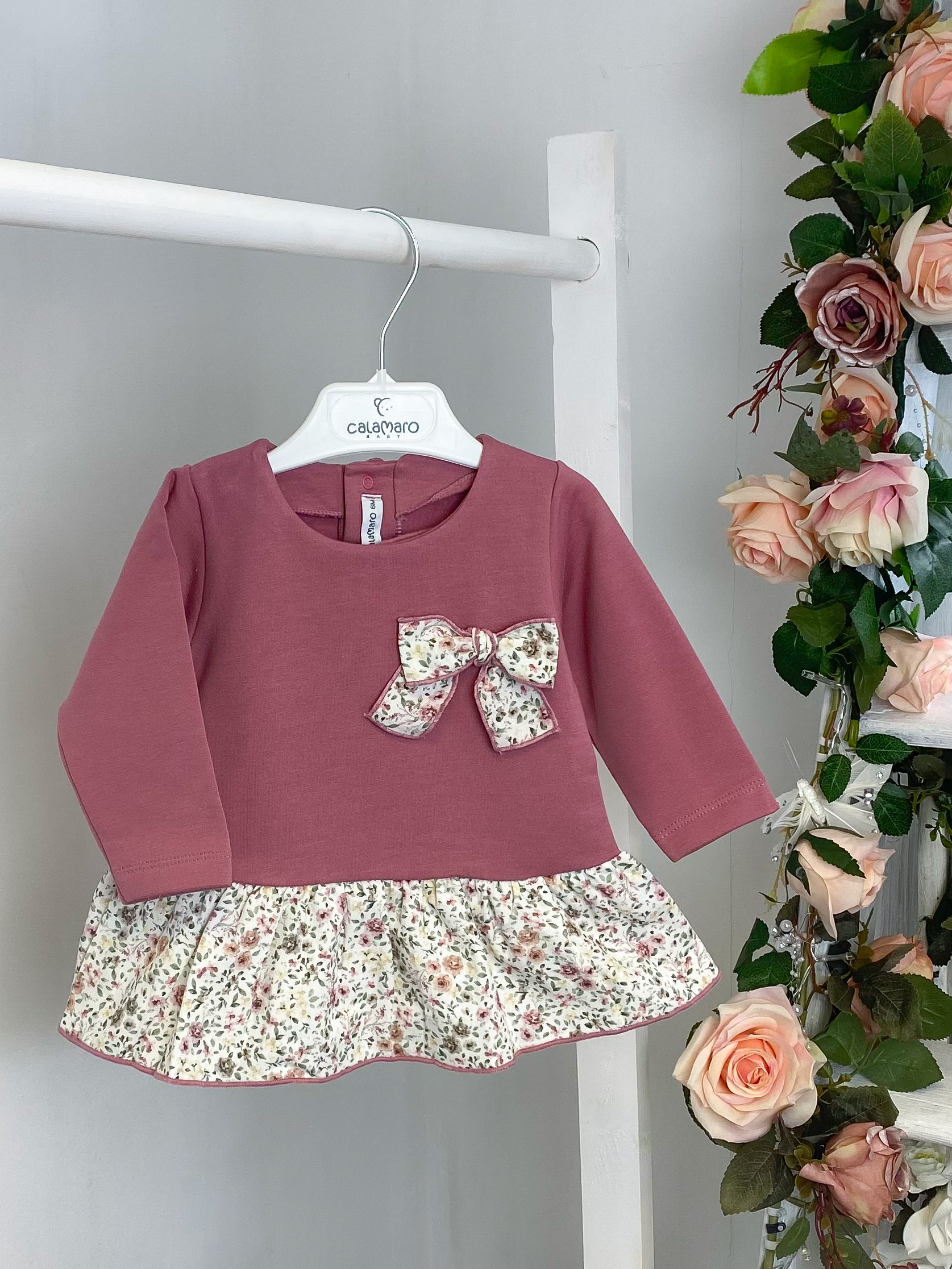 Mulberry Floral Bow Dress