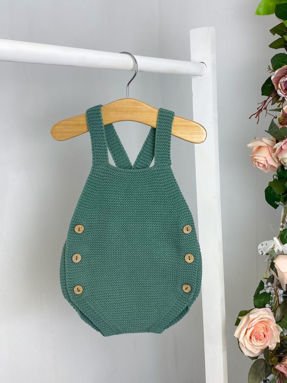 Emerald Knitted Dungaree Romper