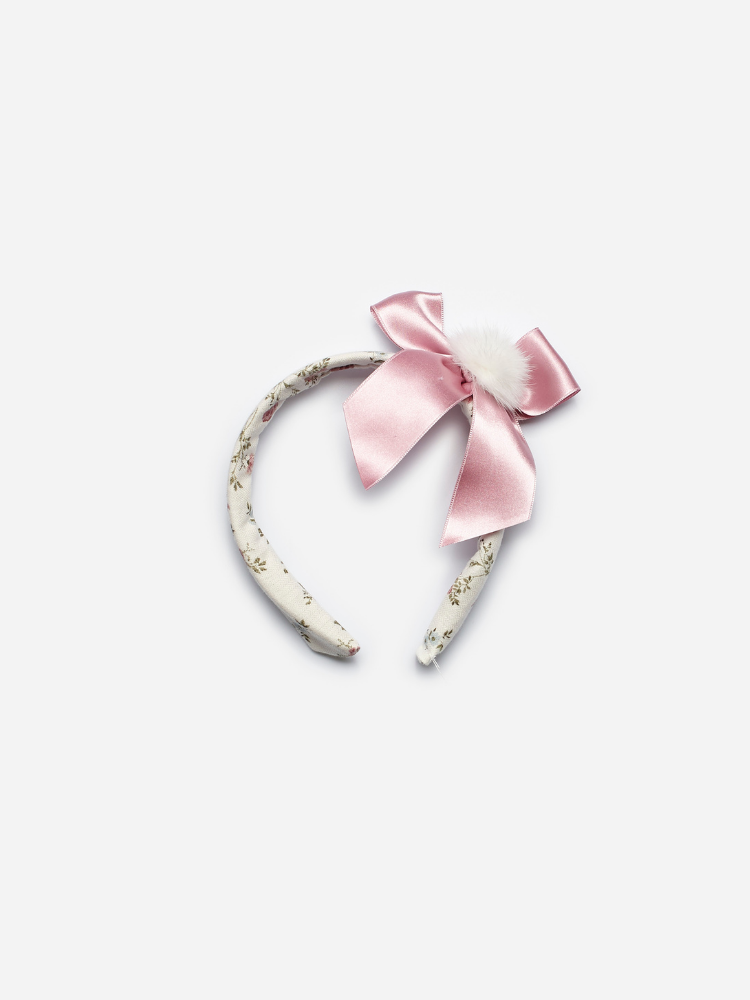 Blush Floral Bow Alice Band