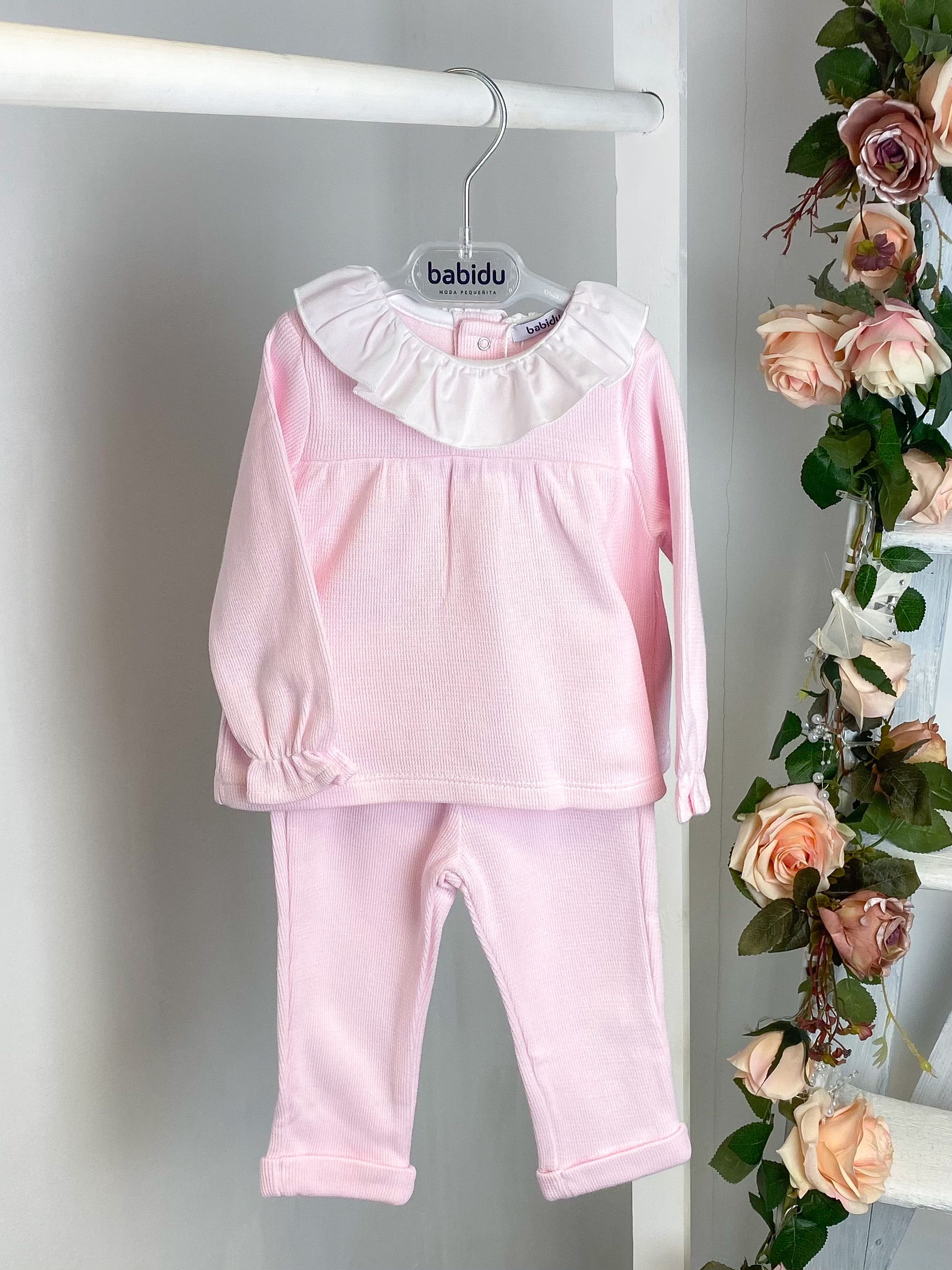 Pink Classic Ruffle Tracksuit